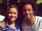 Fernanda Gentil faz foto com Marcelo e brinca ao postar: 'Pra te dar moral'