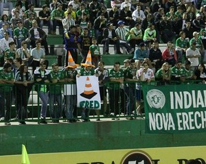 Chapecoense x Fluminense provocação Fred (Foto: Leonardo Radin/chapemultimidia.com.br)