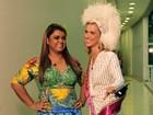 Carolina Dieckmann admira silhueta de Preta Gil: 'Está cada vez mais magra'