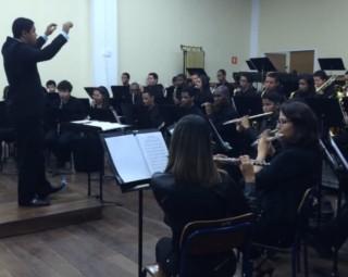 Banda Sinfônica se apresenta nesta terça (24) (Foto: Reprodução/ Divulgação Assessoria Projeto Música nas Escolas)