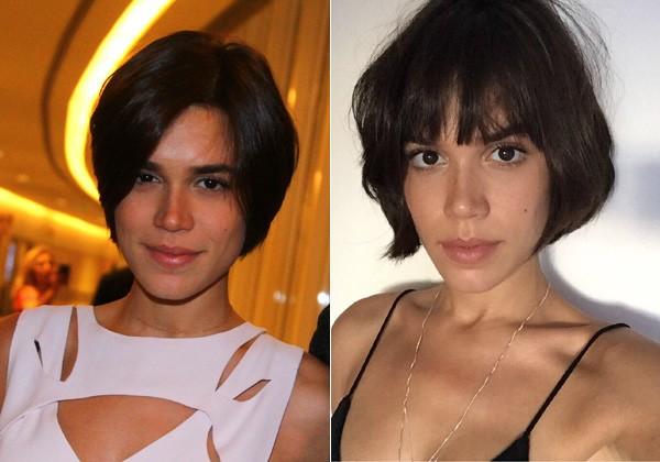Carla Salle antes e depois (Foto: Divulgação/AgNews)