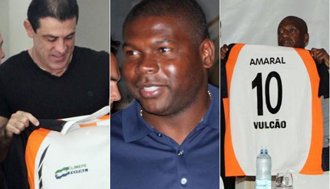 Finazzi, Cléber e Amaral tiveram passagens pelo Vulcão (Foto: Montagem/ GloboEsporte.com)
