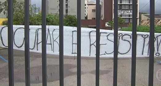 protesto (TV Globo)