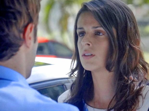 Bia fica sem reação diante de Israel (Foto: TV Globo)