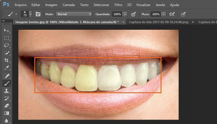 Clareie manualmente os dentes no Photoshop (Foto: Reprodução/Barbara Mannara)