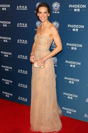 Hilary Swank em premiação em Los Angeles, nos Estados Unidos (Foto: JB Lacroix/ Getty Images)