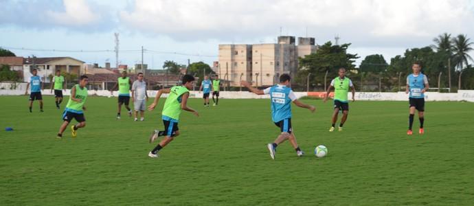 Treino do Botafogo-PB, na Maravilha do Contorno, em João Pessoa (Foto: Amauri Aquino / GloboEsporte.com/pb)