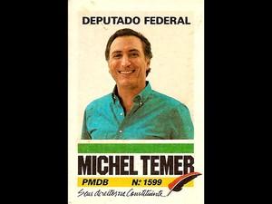 Cartaz da campanha de Michel Temer a deputado federal em 1986 (Foto: Reprodução)