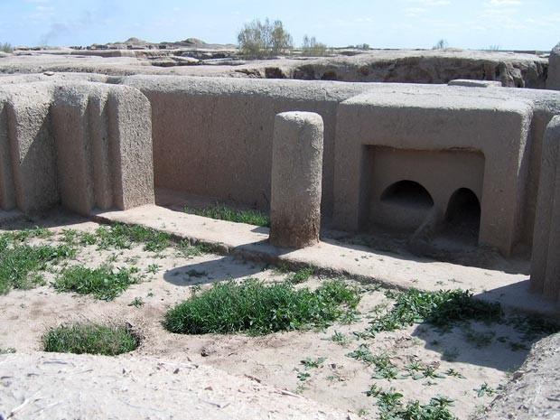 Ruínas de Gonur-Tepe, no Turcomenistão (Foto: AFP/Stringer)