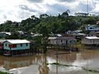Em menos de 24h, Rio Juruá baixa 20 centímetros e apresenta vazante
