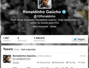 Twitter Ronaldinho (Foto: Reprodução / Twitter)