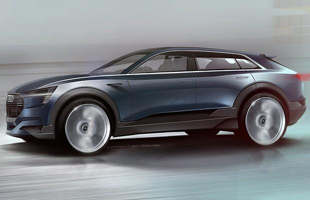 Audi E-Tron SUV Concept antecipa o futuro Q6 (Foto: Divulgação)