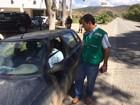 Em greve, servidores do IMA fazem panfletagem em Teófilo Otoni