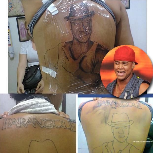 Fã tatua rosto de Léo Santana (Foto: Reprodução/Instagram)