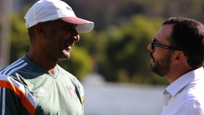 Cristóvão Borges e Mário Bittencourt, treino Fluminense (Foto: Nelson Perez / Flickr do Fluminense)