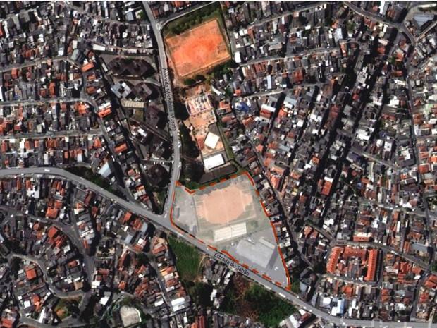 Localização do novo hospital do bairro Brasilândia, na Zona Norte (Foto: Prefeitura de São Paulo/Divulgação)