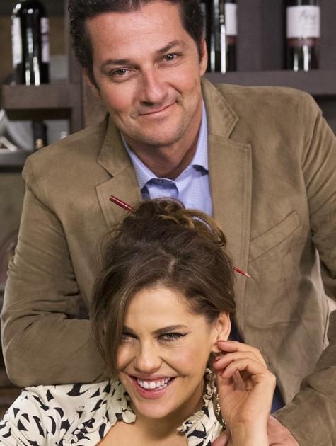 Bárbara Paz e Marcelo Serrado (Foto: TV Globo)