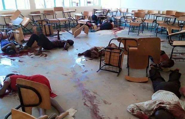 Foto mostra sala de aula após ataque em Garissa (Foto: Reprodução/Facebook/Nana Yaw Buobu)