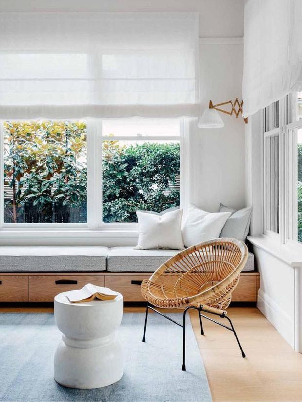 Sala De Estar Vogue ~ Décor do dia sala de estar clean com materiais naturais  Casa Vogue