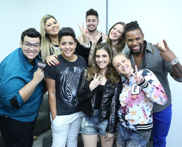 Os integrantes do Time Claudia Leitte juntinhos (Foto: Isabella Pinheiro/Gshow)