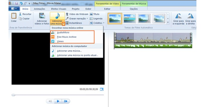 Também é possível baixar músicas gratuitamente para adicionar nos seus vídeos (Foto: Reprodução/Barbara Mannara)