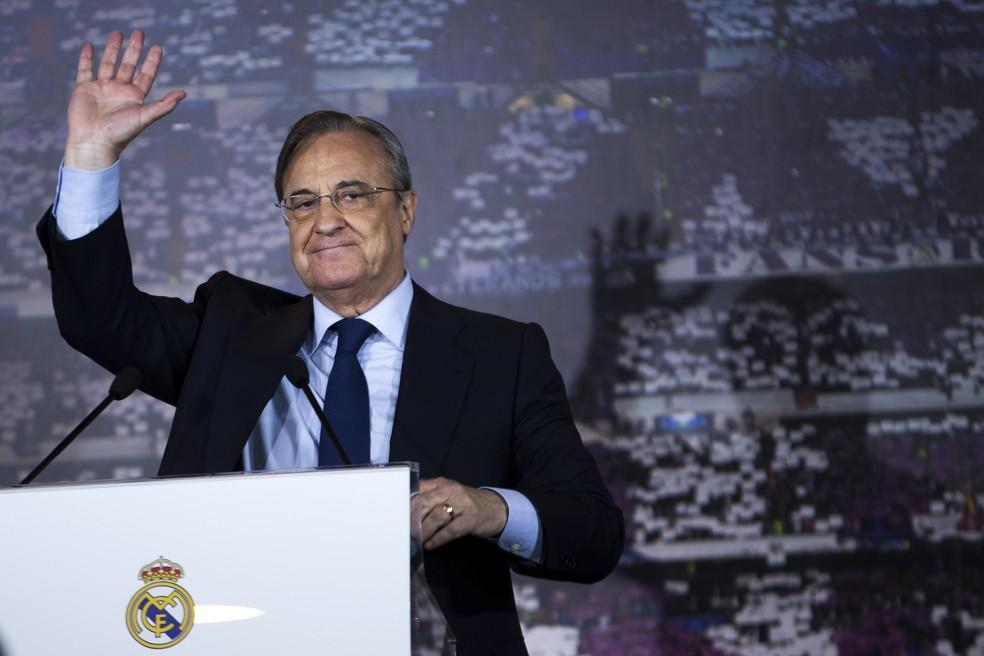 Florentino Pérez aposta no fenômeno Vinicius Junior (Foto: ASSOCIATED PRESS/AP)