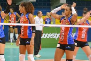 Maranhão Vôlei e São José pela Superliga feminina de vôlei em jogo no Castelinho (Foto: Divulgação / Tavares Jr.)