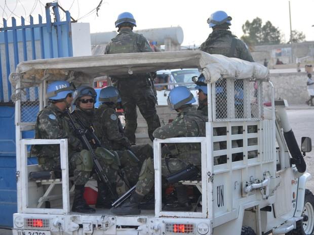 Imagens mostram rotina de militares de Campinas em Porto Príncipe, no Haiti (Foto: Lana Torres / G1)