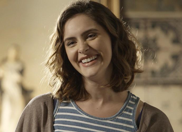 Elisa confessa que levou um susto quando soube que Berenice voltaria para a trama (Foto: TV Globo)