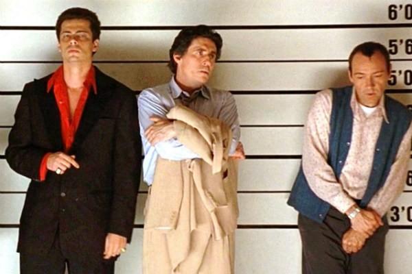 Os atores Benício Del Toro, Gabriel Byrne e Kevin Spacey em Os Suspeitos (1995) (Foto: Reprodução)