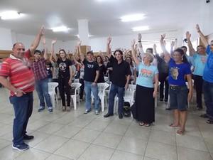 Bancários do Sul optaram por voltar ao trabalho na segunda-feira (14) (Foto: Sindicatos do Bancários de Criciúma/Divulgação)