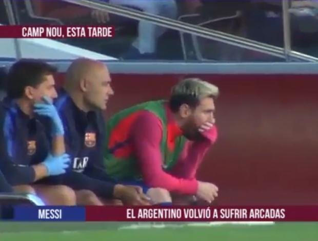 BLOG: Messi volta a se sentir mal e quase vomita no banco de reservas