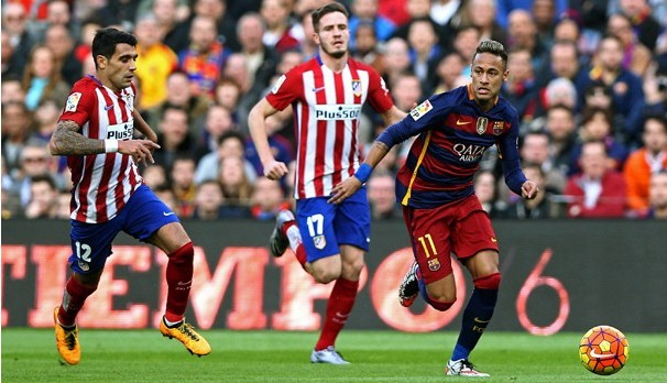 Barcelona e Atlético de Madrid se enfrentam pela Liga dos Campeões (Foto: Reprodução GE)