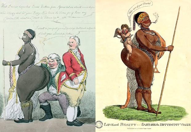 Saartjie Baartman inspirou caricaturas no século 19 (Foto: Reprodução)