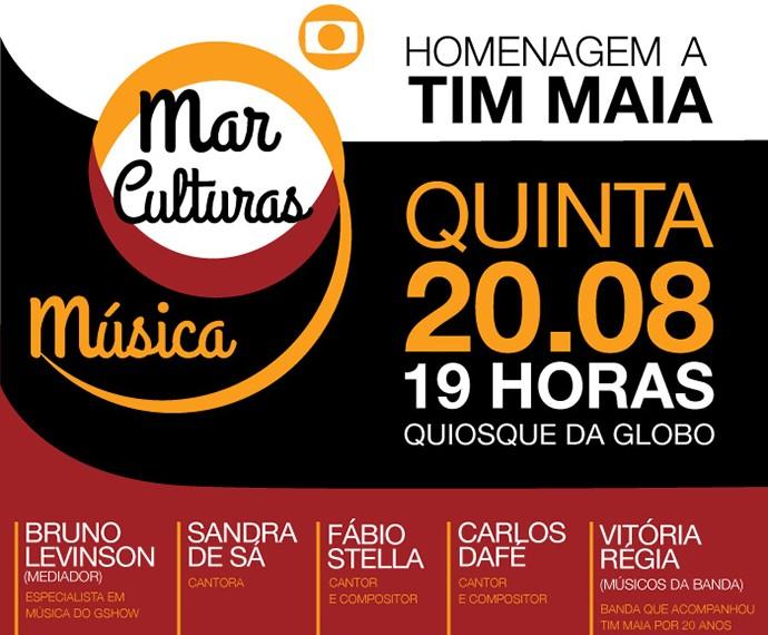 Terceira edição do Mar de Culturas faz homenagem a Tim Maia (Foto: Divulgação)