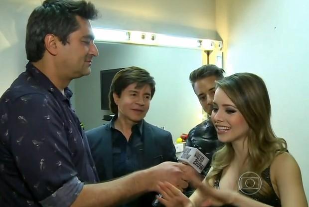 Zeca entrevista Sandy (Foto: Vídeo Show/TV Globo)