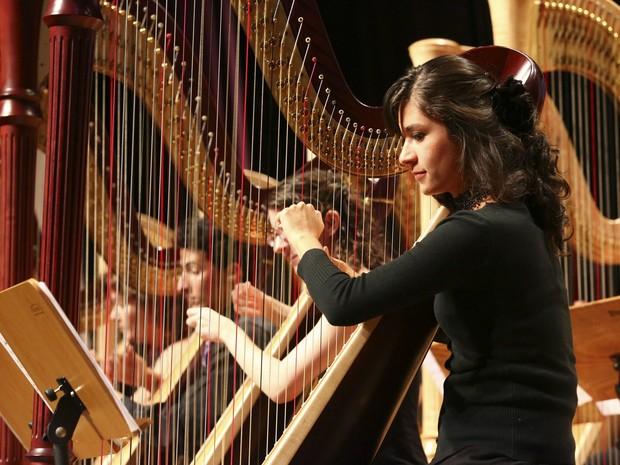 Orquestra de Harpas (Foto: Femusc/Divulgação)
