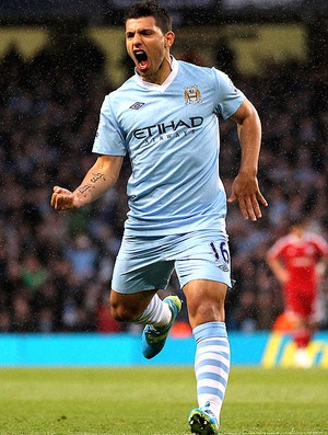 Aguero - Manchester City x West Bromwich  (Foto: Getty Images)