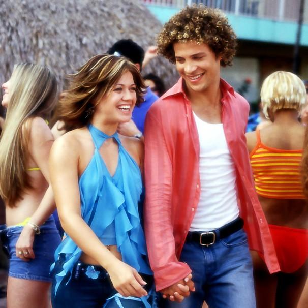 """Kelly Clarkson e Justin Guarini estão em """"De Justin para Kelly"""", atração do Corujão (Foto: Divulgação)"""