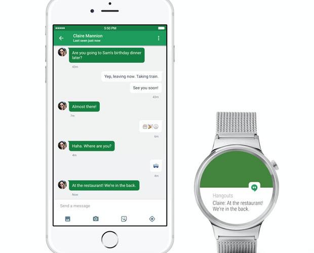 iPhones se conectam com relógios inteligentes que rodam Android Wear. (Foto: Divulgação/Google)