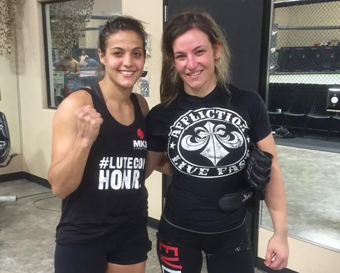 Poliana Botelho e Miesha Tate (Foto: divulgação)