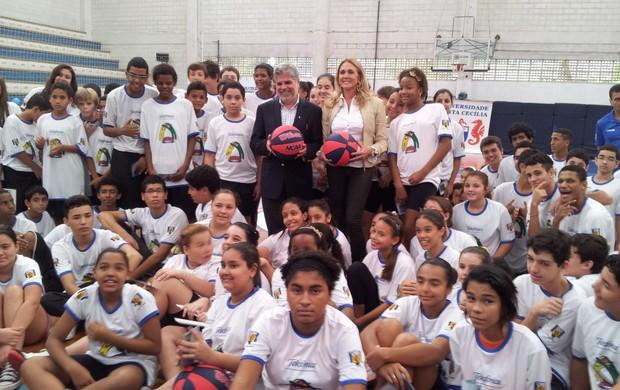 Hortência é um exemplo para as crianças (Foto: Juliana Vieira / GloboEsporte.com)