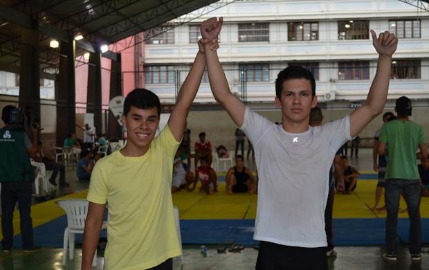 Definidos os representantes do AP que vão disputar luta olímpica na etapa nacional dos jogos escolares (Foto: Wellington Costa/GE-AP)
