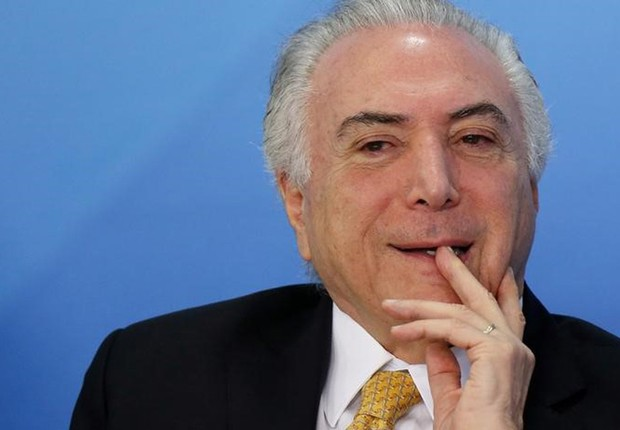 O presidente Michel Temer durante cerimônia no Palácio do Planalto, em Brasília (Foto: Adriano Machado/Reuters)
