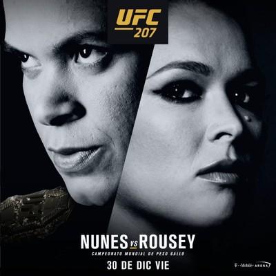Amanda Nunes e Ronda Rousey pôster oficial (Foto: Reprodução)