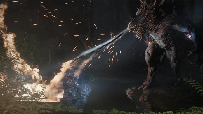 Bug em Evolve poderá acabar com você mais rápido que o monstro gigante (Foto: Divulgação)