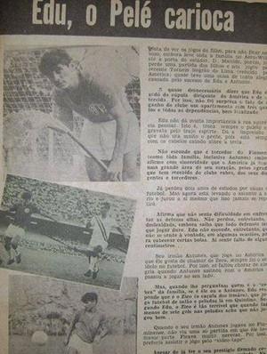 America - Edu - Jornal dos Esportes (Foto: Arquivo Pessoal/Paulo Cezar Carreira)