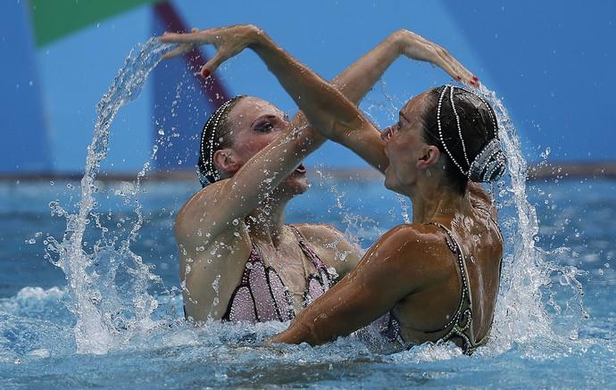 Natalia Ischenko e Svetlana Romashina Rússia Nado sincronizado (Foto: AP Photo/Wong Maye-E)