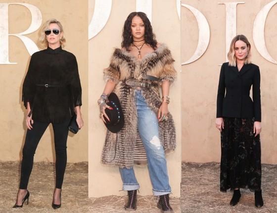 O estilo de Charlize Theron, Rihanna e Brie Larson no badaladíssimo desfile na Califórnia (Foto: Dior/ Divulgação)