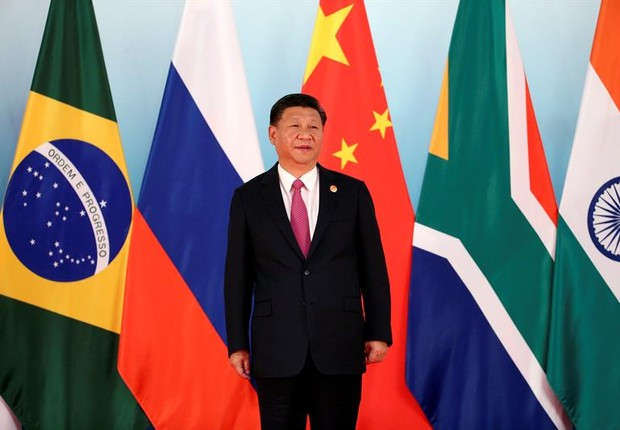 Xi Jinping, presidente chinês, durante Conferência dos BRICS (Foto: EFE/EPA/WU HONG)